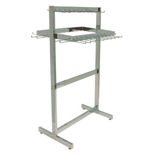 Belt, Tie & Scarf Rack - Freestanding Chrome