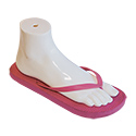 White Plastic Sandal Display Foot Form