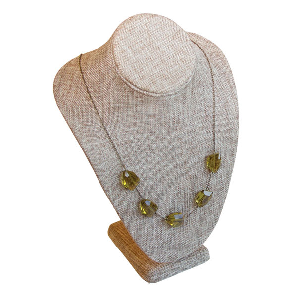 Burlap/Linen Bust Necklace Displayer