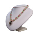 White Leatherette Necklace Jewelry Stand/Bust