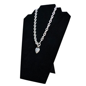 Black Velvet Adjustable 2-Tier Necklace Easel