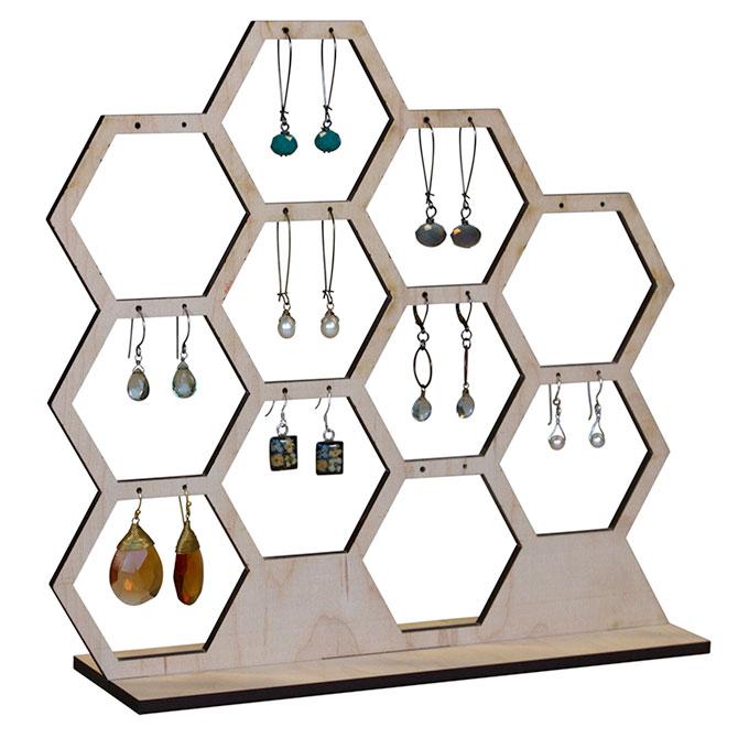 Honeycomb Earring Display