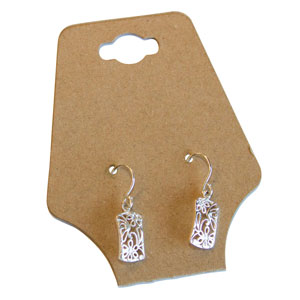 Kraft Necklace/Earring Hanging Cards