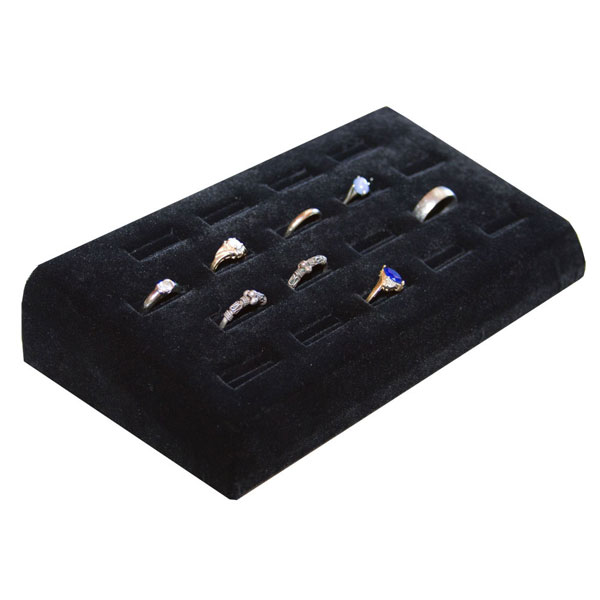 18-Ring Black Velvet Jewelry Display