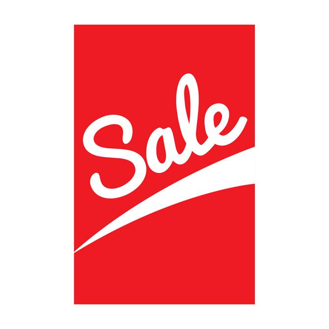 red retro sale retail sign