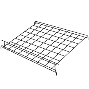 "24"" x 24"" Black Grid Shelf with Lip"