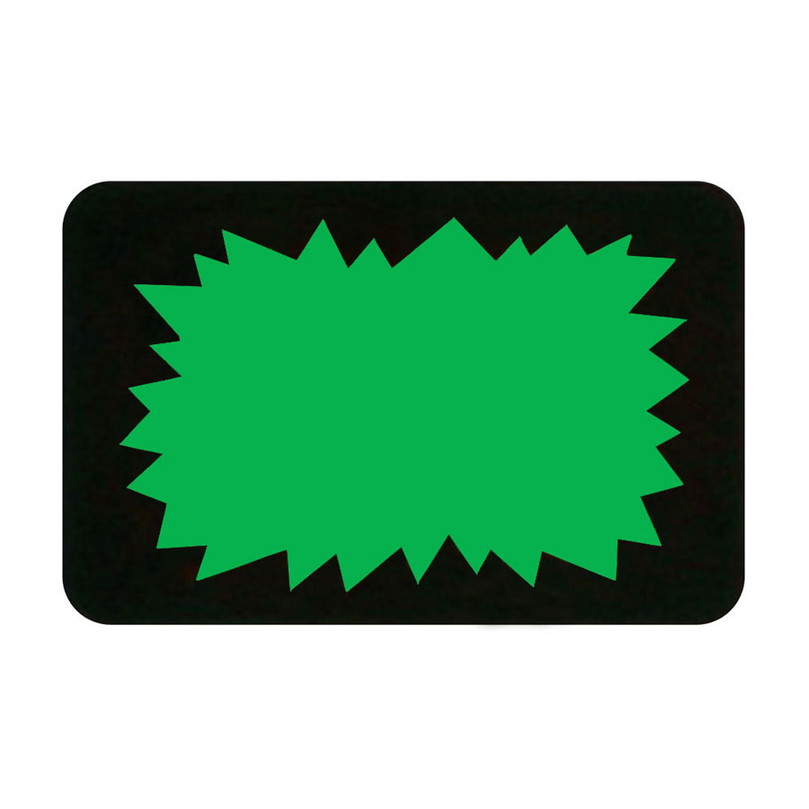 Green Burst Retail Promotion Labels Retail Signage By Grand Benedicts Store Fixtures