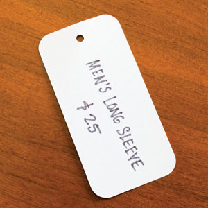 White Blank Merchandising Hang Tag