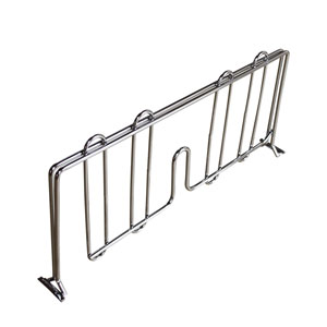 "9"" X 19"" Chrome Wire Shelf Divider"