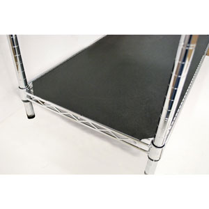 "18"" x 36"" Black Vinyl ABS Shelf Liner"
