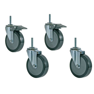 Caster Set for Wire Shelving