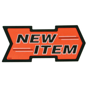 New Item Retail Arrow Sign
