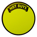 Hot Buys Round Retail Sign