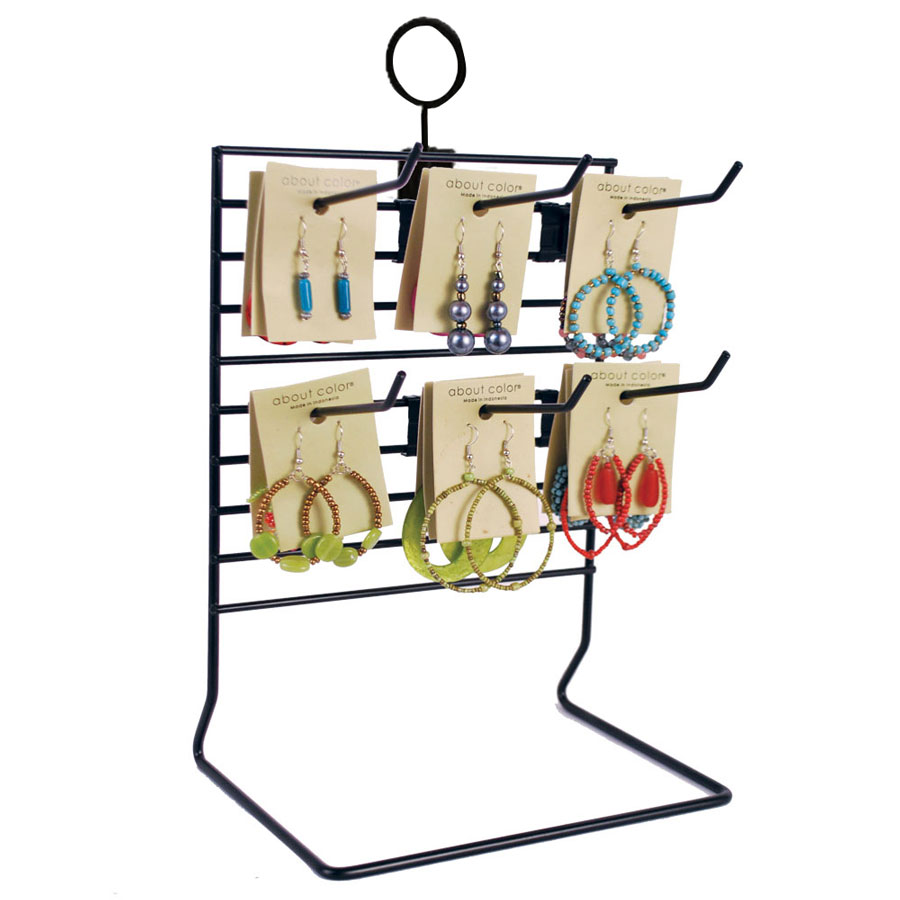 Wire Rack Display Stands | Black Wire Countertop Display Rack Retail Merchandisers By Grand
