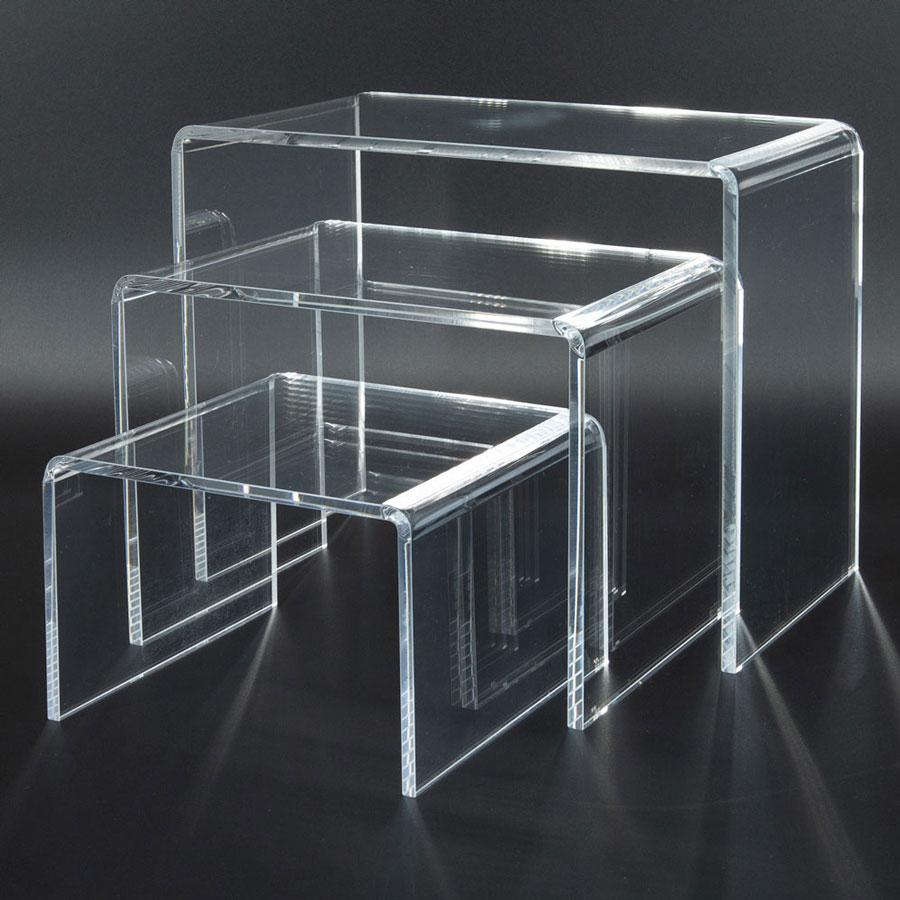 Medium Clear Acrylic Display Riser Set Of 3 1 4 Inch