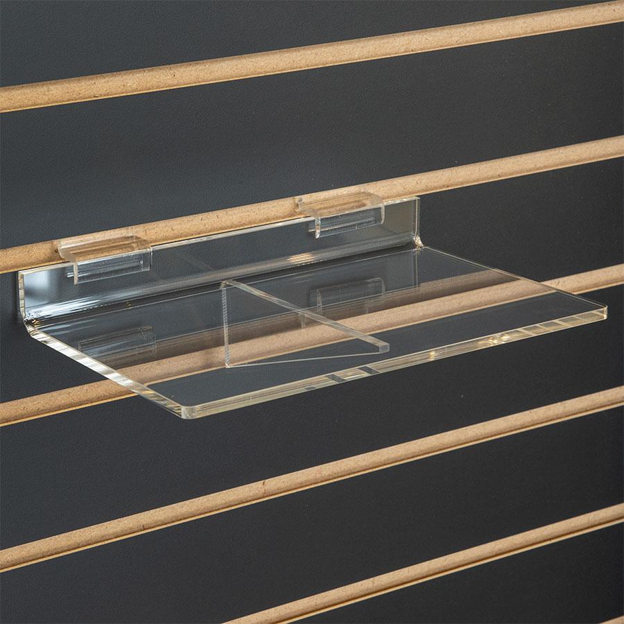 Braced Acrylic Slatwall Display Shelf Retail Slatwall