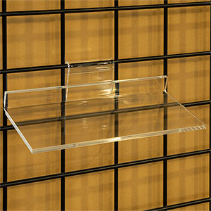 Acrylic Gridwall Shelf