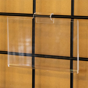Acrylic Gridwall Sign Holder - 7 in. W X 5-1/2 in. H