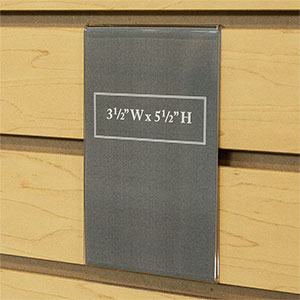 Acrylic Economy Slatwall Sign Holders
