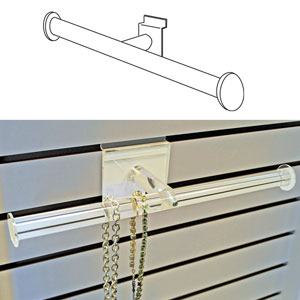 Acrylic Slatwall Jewelry Display T-Bar