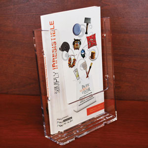Wide Injection Molded Brochure Holders