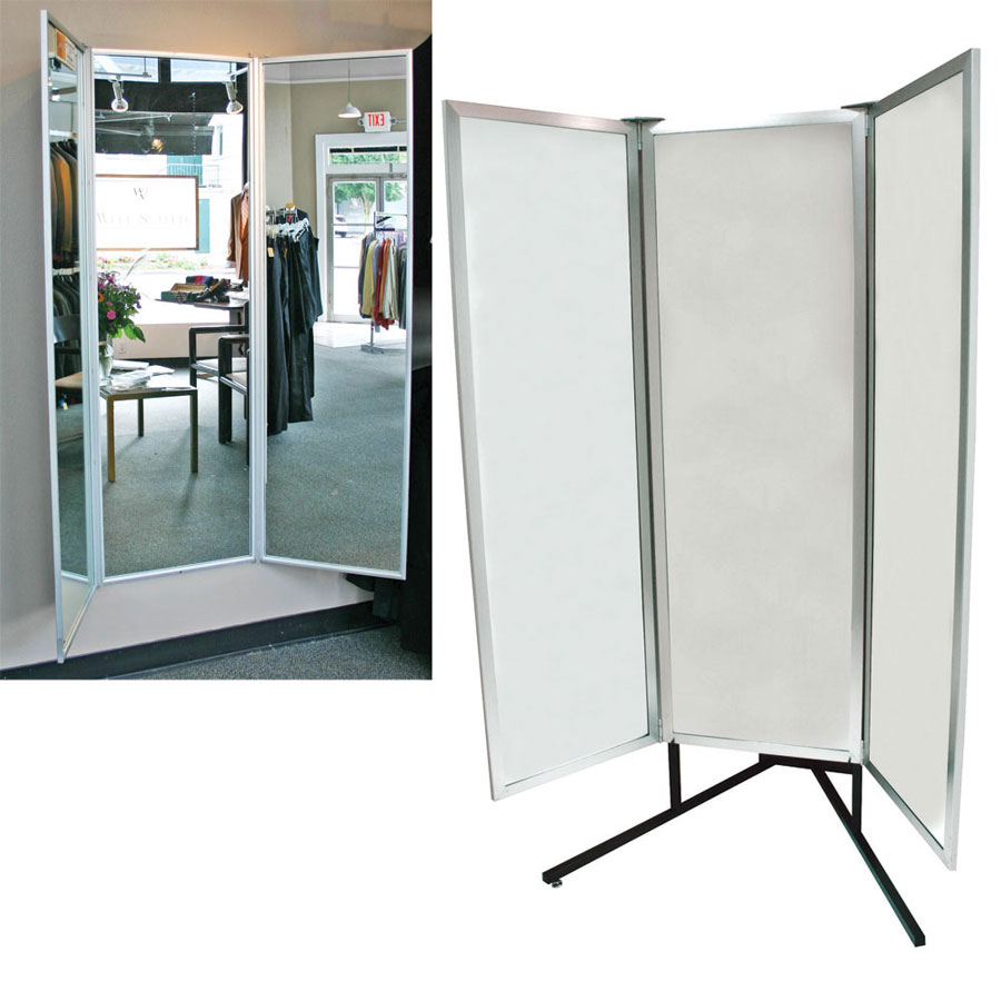 Deluxe 3 Way Full Body Glass Mirror