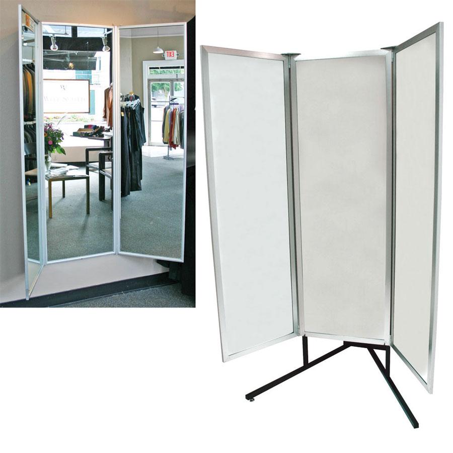Deluxe 3 Way Full Body Glass Mirror