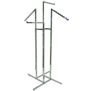 4-Way Rack with Square Slant and Straight Arms