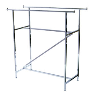 Double Bar Garment Merchandising Rack