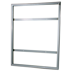 "22"" x 28"" Wallmount Chrome Card Holder"