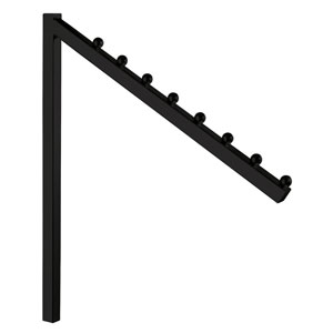 8-Ball Black Square Waterfall Arm