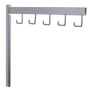5-Hook Straight Arm - Rectangular Tube