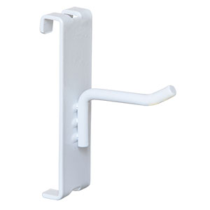 "12"" White Gridwall Hook"