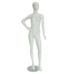 Sally- Glossy White Female Mannequin