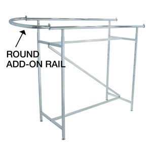 Chrome Round Hangrail For Double Bar Rack