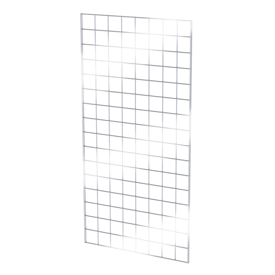 2 ft W X 6 ft H Chrome Gridwall Wire Panel   G+B Store Fixtures