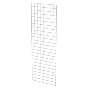 4'W X 4'H White Grid Wire Panel
