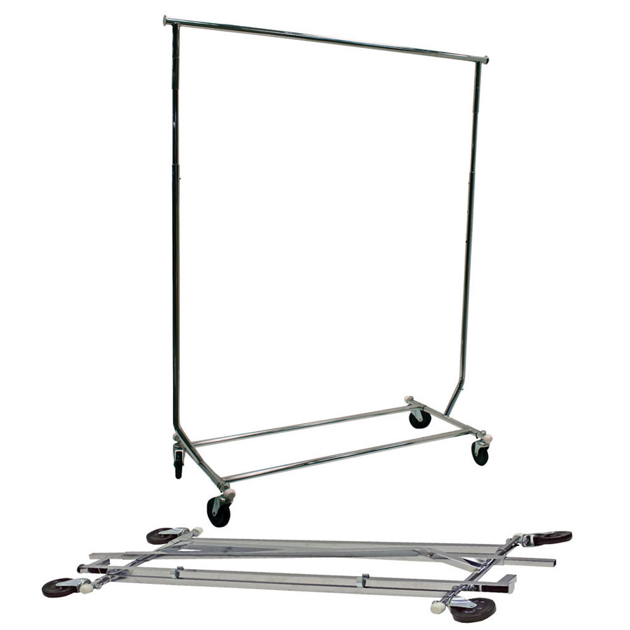 Round Tubed Collapsible Garment Salesman Rack G B Store
