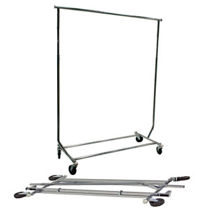 Round Tubed Collapsible Garment Salesman Rack