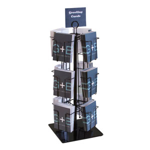 Black Rotating Countertop Greeting Card Display