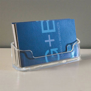 Acrylic Business Card Holder Horizontal