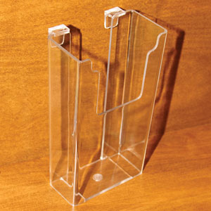 Acrylic Molded Gridwall Literature Holder