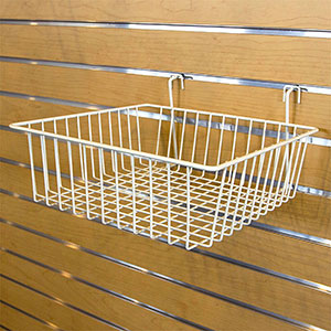 "Multi-Fit Wire Baskets - 12"" x 12"" x 4"" White"