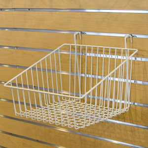 "Multi-Fit Wire Baskets - 12"" x 12"" x 4-8"" White"
