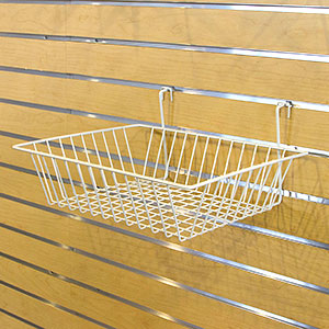 Multi-Fit Wire Baskets - 15 in.  x 12 in.  x 4 in.  White