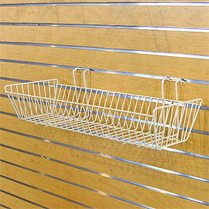 Multi-Fit Wire Baskets - 24 in.  x 10 in.  x 5 in.  White