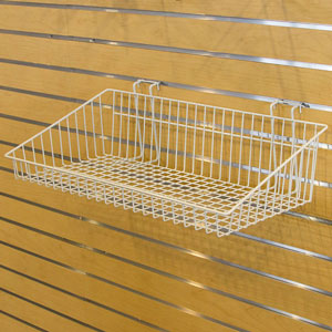 Multi-Fit Wire Baskets - 24 in.  x 12 in.  x 2-6 in.  White