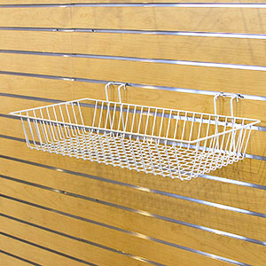 "Multi-Fit Wire Baskets - 24"" x 12"" x 4"" White"