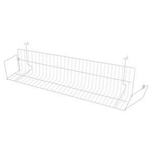 24 in.  White Multi-Media Slatwall Display Shelf