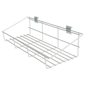 White Power Panel Shelf